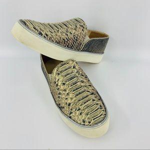 Stuart Weitzman Nuggets Snake Print Leather Shoe